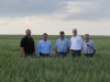 Congressman Cory Gardner (R.-4th,Colo.) visits Anderson Wheat Farm near Haxtun. From left to right, CWAC President Dan Anderson, Haxtun, Congressman Gardner, Dave Anderson, Haxtun, CAWG President Chris Tallman, Brandon, and CAWG Vice President Randy Traxler, Otis.