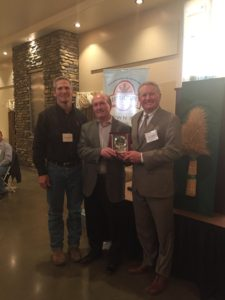 Colorado Commissioner of Agriculture Don Brown and CWAC President Mark Linnebur with Darrell Hanavan.