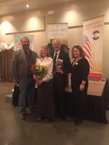 CWRF President Dan Anderson and CWRF Executive Director Kim Warner with Tom and Irene Holtzer.